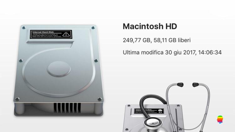 Inizializzare, formattare disco con Utility Disco su Mac