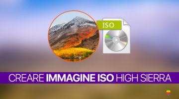 Creare file immagine ISO di macOS High Sierra 10.13