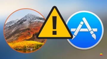 macOS High Sierra, errore impossibile da scaricare