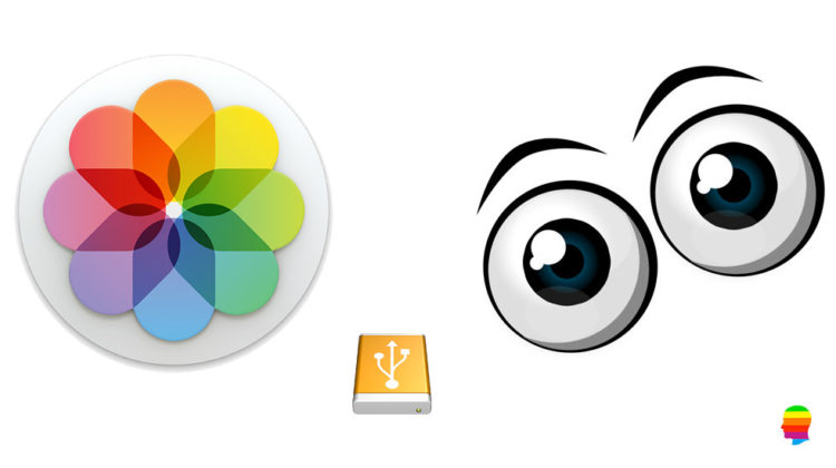 Libreria di foto di macOS su disco esterno o altra posizione