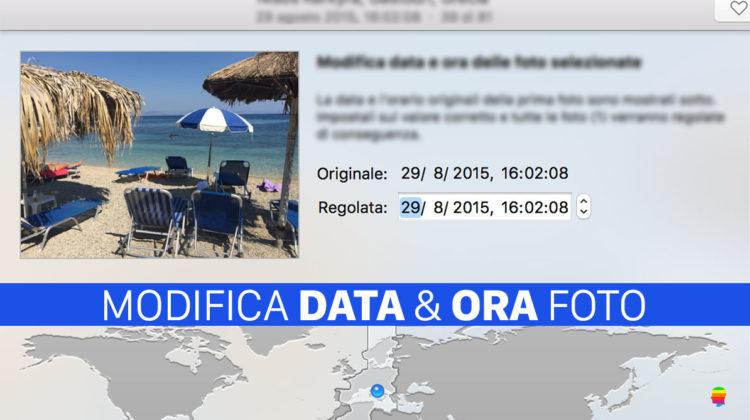 Modificare data e ora creazione Foto e Video su Mac