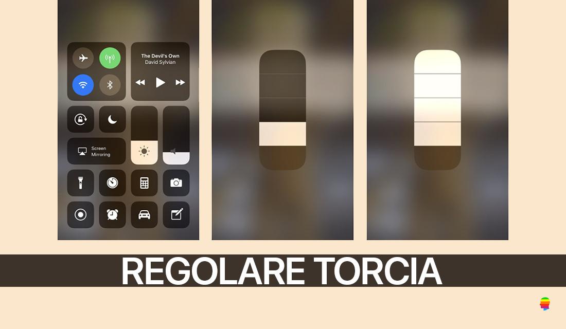 Regolare intensità Luce della Torcia su iPhone