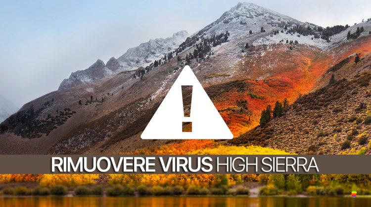 Rimuovere Virus da macOS High Sierra