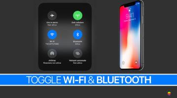 iOS 11, WiFi e Bluetooth del Centro di Controllo non disattivano il loro segnale
