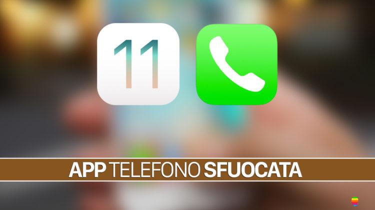 iOS 11 e iPhone 7, schermata Telefono sfuocata o sbiadita