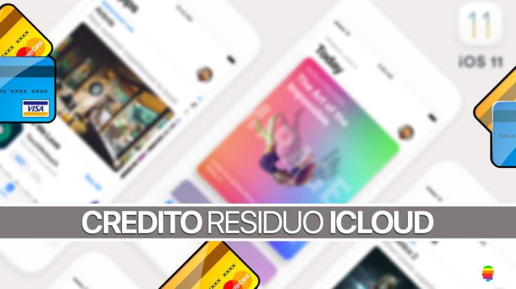 iOS 11, controllare, verificare credito residuo iCloud su iPhone e iPad