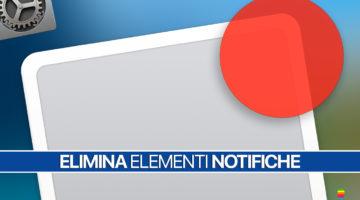 macOS, Eliminare elementi Centro Notifiche in Preferenze di Sistema