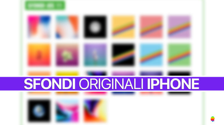 Sfondi Originali iPhone, nuovo menu sul sito di AppleUser.it