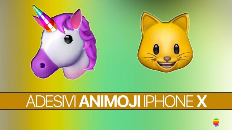 Creare, usare e inviare adesivi stickers Animoji su iPhone X