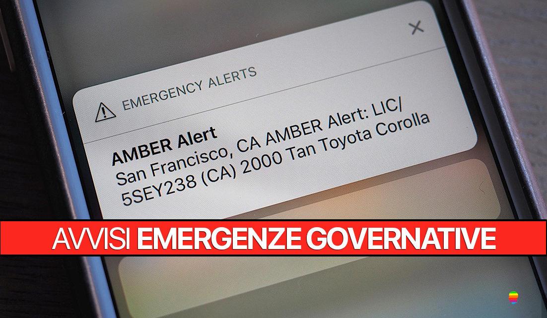 Attivare avvisi di Emergenza e allarmi Governativi su iPhone (AMBER)
