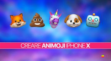 Creare, usare e inviare Animoji su iPhone X nell'app Messaggi
