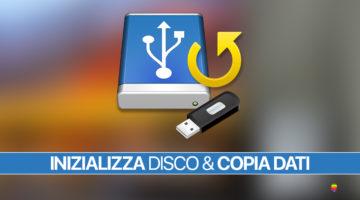 macOS, inizializzare disco di Sistema senza un backup recente dei dati