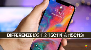 Differenze tra iOS 11.2 (15C113) e iOS 11.2 (15C114)