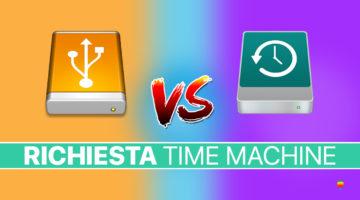 Impedire a macOS di usare disco esterno con Time Machine