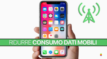Come ridurre il consumo dei dati mobili su iPhone