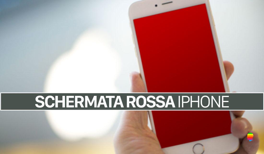 Schermata Rossa sul display di iPhone, ecco come risolvere