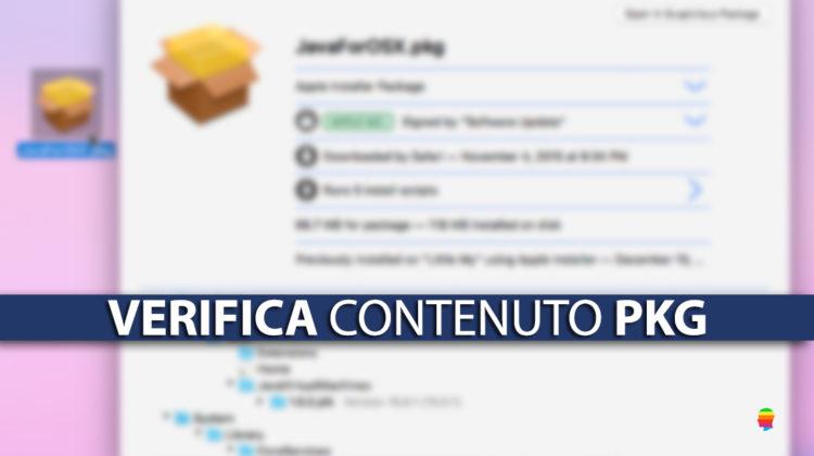 Ispezionare contenuto file di installazione pkg su macOS