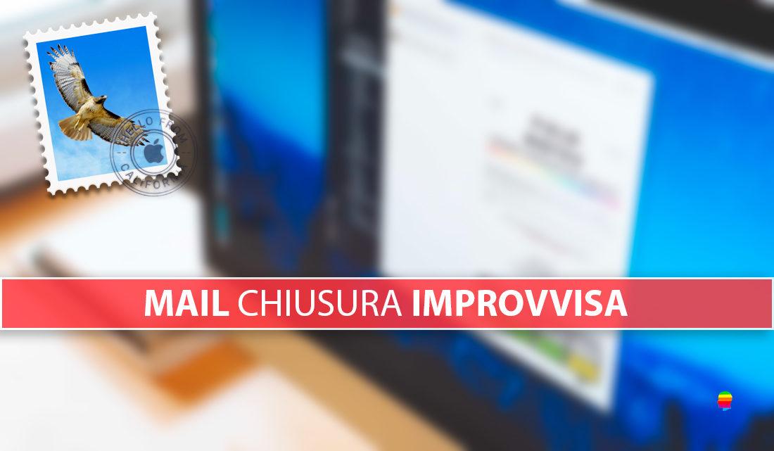 Mail si chiude inaspettatamente, improvvisamente su macOS