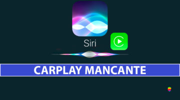 Funzione CarPlay mancante dalle Impostazioni di iPhone