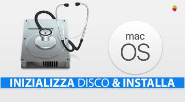 Installare macOS inizializzando il disco di sistema