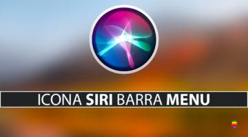 Nascondere icona di Siri dalla barra dei menu su macOS