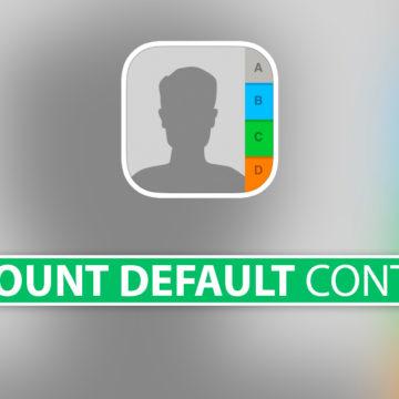 Impostare account di default Contatti su iPhone e iPad
