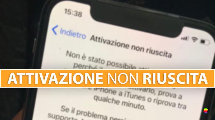 Attivazione non riuscita su iPhone e iPad, server irraggiungibile