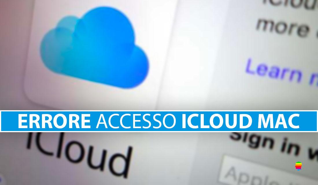 Impossibile accedere ad iCloud su Mac dopo cambio password