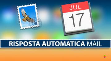 Creare risposta automatica su Mail di iCloud per le vacanze!