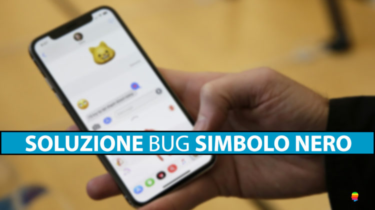 Soluzione bug simbolo nero Black Dot su iPhone e iPad