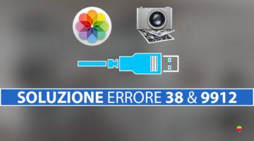 Soluzione per l'errore 38 e 9912 su macOS