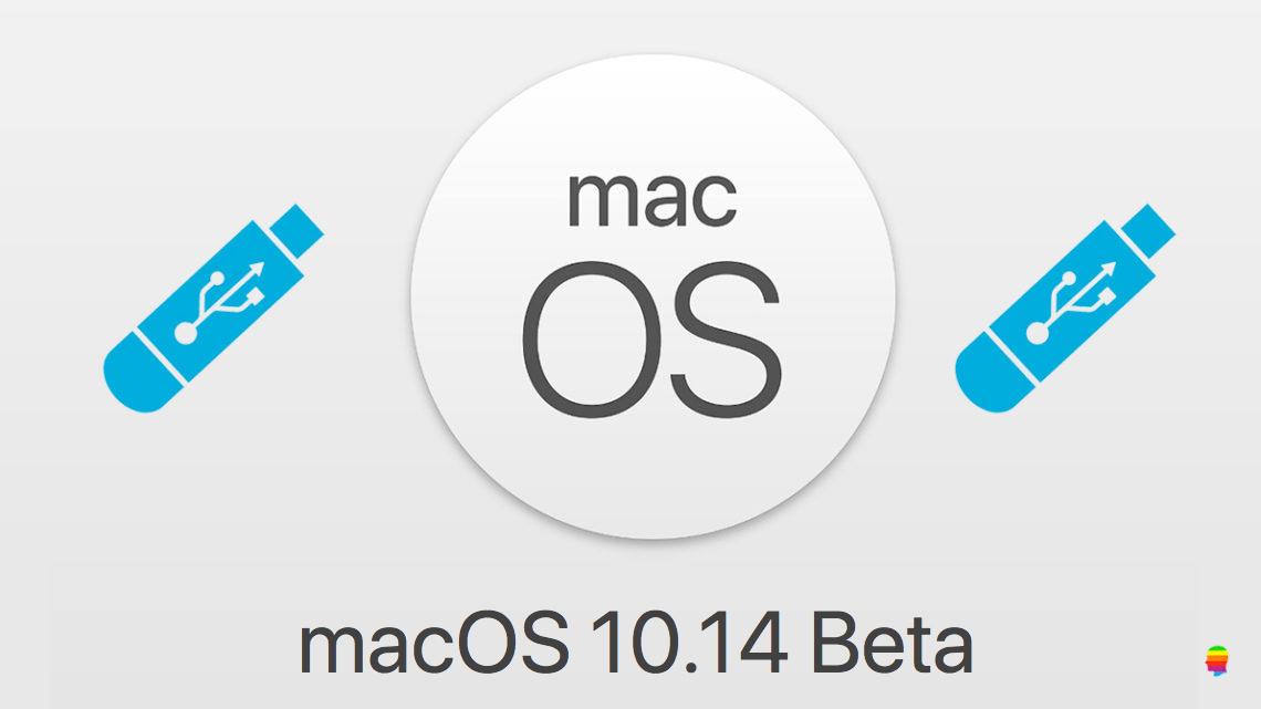 macOS 10.14 Mojave, Creare chiavetta pendrive USB su Mac