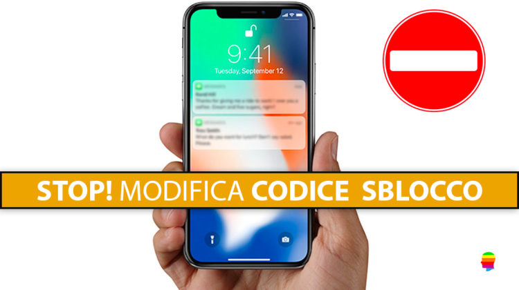 Impedire modifica codice blocco schermo, impronta e volto su iPhone e iPad