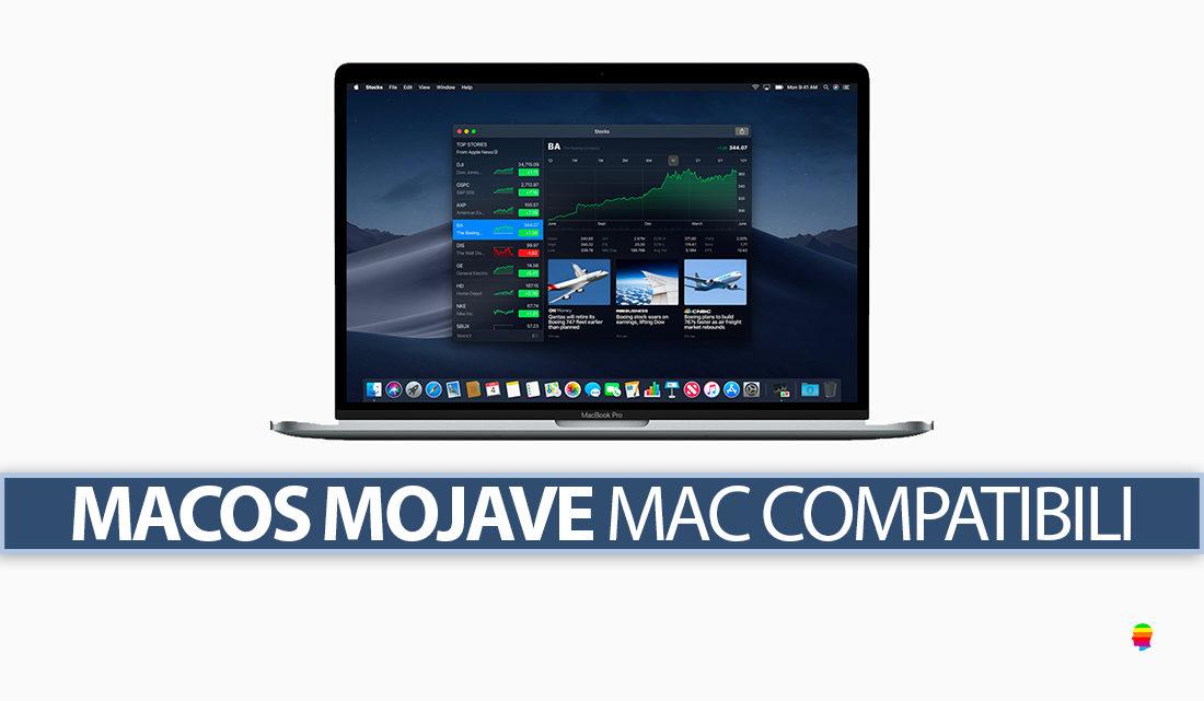 Lista Mac compatibili con macOS Mojave 10.14