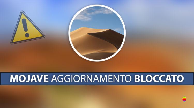 macOS Mojave 10.14, installazione bloccata con aggiornamento al 100%