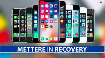 Mettere in Recovery mode, modalità di recupero iPhone e iPad (Guida completa)