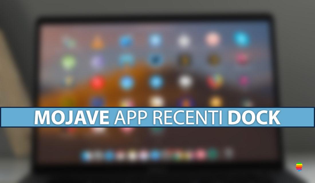 Nascondere applicazioni recenti dal Dock di macOS Mojave 10.14