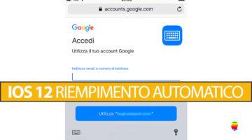 iOS 12, gestire Riempimento automatico moduli utente e password su iPhone e iPad