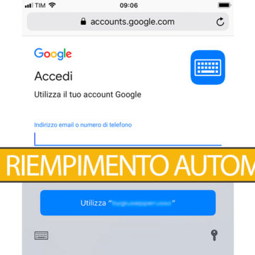 iOS 12, gestire Riempimento automatico moduli utente e password su iPhone e iPad