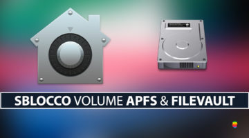 FileVault: Accedere, sbloccare disco o volume APFS da Terminale in Recovery Mode